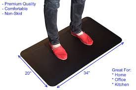 Standing Desk Floor Mat Amazon by Amazon Com Uncaged Ergonomics Thick Premium Anti Fatigue Cushion