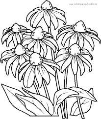 Children Flowers Coloring Pages Printable New On Painting Animal