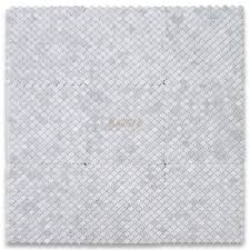 carrara white mini fish scale fan shaped mosaic tile polished