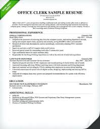 Sample Resume For Administrative Assistant Position With No Experience Office Clerk Professional
