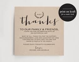 Vintage Wedding Thank You Card Table Favor Printable Sign PDF Instant Download