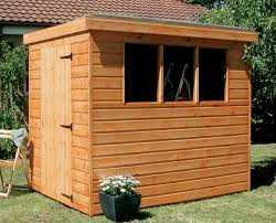 6x5 Shed Double Door by 6x5 U0027 Pent Garden Shed Heavy Duty Tongue U0026 Groove Wood Amazon Co