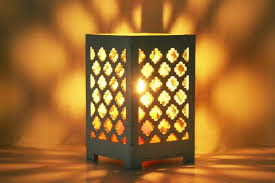Laser Cut Lamp Shade by Laser Cut Gold Moroccan Candle Holder Shadowbox Clean Modern
