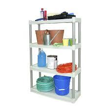 Sterilite 4 Shelf Cabinet by Plano Heavy Duty 4 Shelf Storage Unit Light Taupe 4 Shelf For
