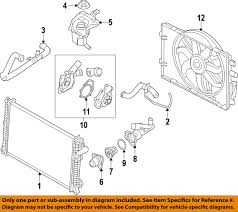 Details About Ford OEM Radiator Upper Hose 9E5Z-8260-F Factory 2007-2009  Fusion / Milan