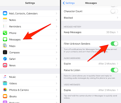 Block Text Messages From Unknown Senders & Spam on iPhone