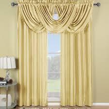 Waterfall Valance Curtain Set by Amazon Com Exquisite Draperies Soho Rod Pocket Faux Silk Window