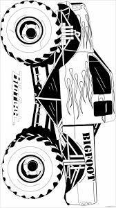 Tremendous Printable Bigfoot Coloring Pages Monster Truck Page ...
