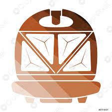 stock vector sandwichmaker ikone in der küche