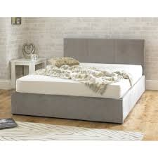 Stirling Ottoman 6ft super king size stone fabric bed