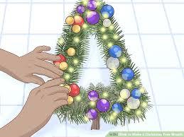 Image Titled Make A Tree Wreath Step Christmas Deco Mesh Door