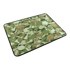 100 Camo Floor Mats For Trucks Sugar Skull Uflage Green Waterproof Polyester Fabric Shower