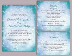 DIY Rustic Wedding Invitation Template Set Editable Word File Instant Download Printable Teal Blue