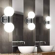 beleuchtung 2er set led chrom wand len badezimmer spiegel