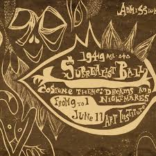 Poster For The 1949 Surrealist Ball At Art Institute Of Chicago