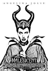Coloring Page Maleficent Disney Angelina Jolie In The Role Of On Most Frightening Villain