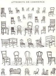 Vintage French Furniture Book Illustrations Of Chairs Beds From France Advertising Art Early 1900s