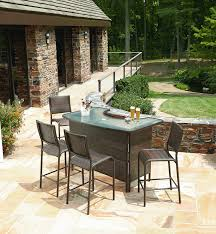 Outdoor Wicker Patio Bar Set Ideas Dining Room Dimension Furniture Sets