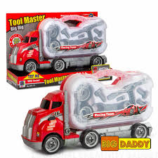 100 Truck Tools Big Daddy Big Rig Tool Master Transport Toy Carrier With