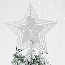 Black Angel Christmas Tree Topper Uk by Personalised Star Christmas Tree Topper By Twenty Seven