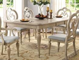 French Country Dining Room Table Set In Antique White