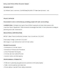 Campus Police Officer Resume Resumes