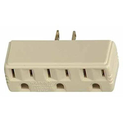 ACE Outlet Adapter - Triple Tap, 15 Amp, 125V