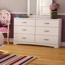 Walmart South Shore Dressers by South Shore Maddox 6 Drawer Double Dresser In Pure White Finish