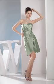 smoke green club dress cute a line sweetheart sleeveless taffeta