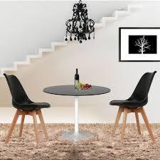 4er set design esszimmerstuhl kunstleder schwarz polstersessel loungesessel stuhl küche esszimmer