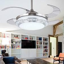 Lighting Groups Modern Acrylic Blades Cool Ceiling Fan Light Kit 42 Inch Energy Saving Mute