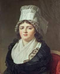 Detail Of Antoinette Gabrielle Charpentier By Jacques Louis David