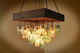 Twenty Divine Mason Jar Rustic Pallet Light Fixture Diy Picture