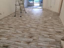 wood tile floor home decor wood look tile