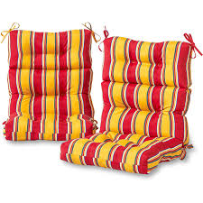 Walmart High Back Outdoor Chair Cushions by High Back Chair Cushions Outdoor Furniture Roselawnlutheran