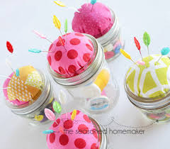 Turn A Mason Jar Into Pin Cushion Tutorial Using This Step By
