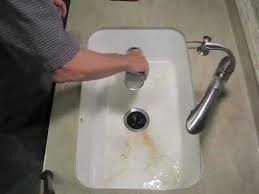 Installing Sink Strainer In Corian by Corian Solid Surface Sink Cleaning Youtube