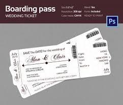 Plane Ticket Wedding Invitation Template Boarding Pass 36 Free Psd Format Download