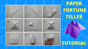 how to make a paper fortune teller youtube