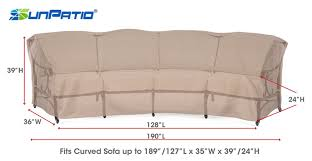 Leaf Studio Day Sofa Slipcover by Amazon Com Sunpatio Xl Curved Sofa Cover 190