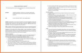 Contract FormatsOutsourcing Services Template