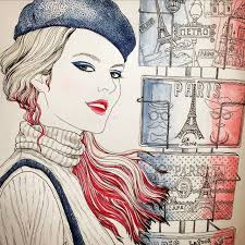 Too Much Blue White Red Paris Look Suwa Hers