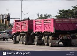 100 Pink Dump Truck Chiangmai Thailand January 4 2019 Trailer Truck Of
