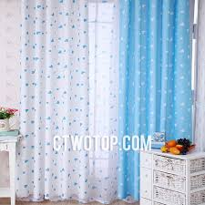 Yellow And White Curtains For Nursery by And Baby Blue Heart Patterned Best Chic Nursery Kids Curtains