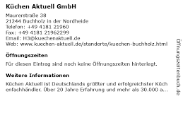 ᐅ öffnungszeiten küchen aktuell gmbh maurerstraße 38 in
