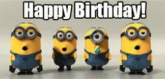 Minions Birthday GIF DespicableMe Minions HappyBirthday GIFs 715