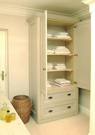 Free Standing Linen Cabinet Gorgeous Bathroom Linen Cabinet From A