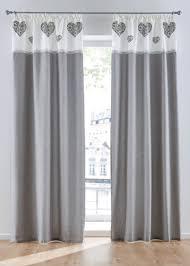 vorhang im landhaus stil im trendigen grau