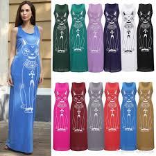 european women clothes maxi dresses tank dress plus size slim long