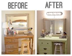 Makeup Vanity Table With Lighted Mirror Ikea by Furniture Let It Realize Your Princess Dream With Pretty Makeup